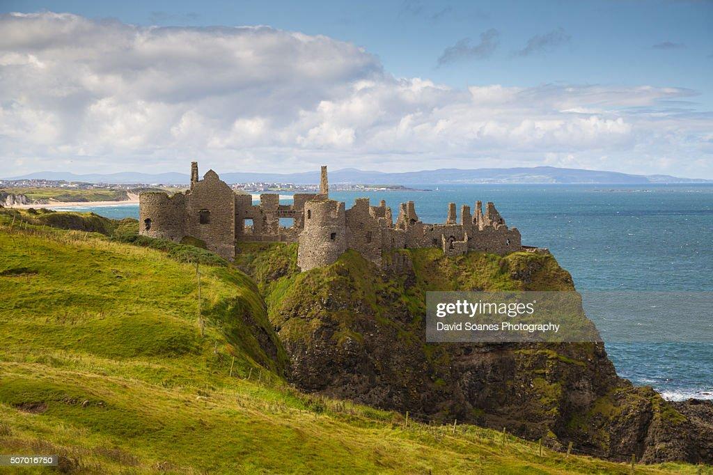 Dunluce Castle on the Causeway Coastal Route, Antrim, Northern Ireland : Stock Photo
