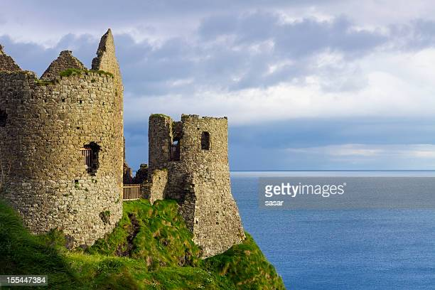 dunluce castle - ireland stock pictures, royalty-free photos & images