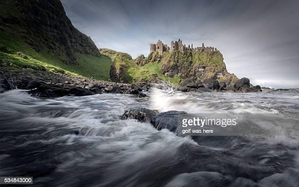 dunluce castle - dunluce castle stock photos and pictures