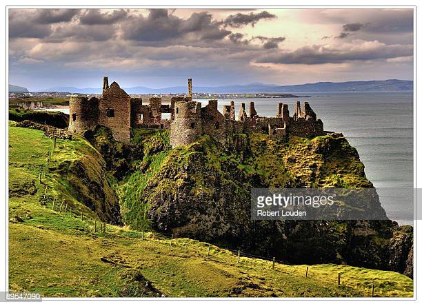 dunluce castle - northern ireland stock photos and pictures