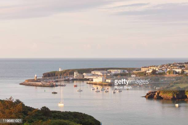 dunmore east main harbour, county waterford, ireland - county waterford ireland stock pictures, royalty-free photos & images