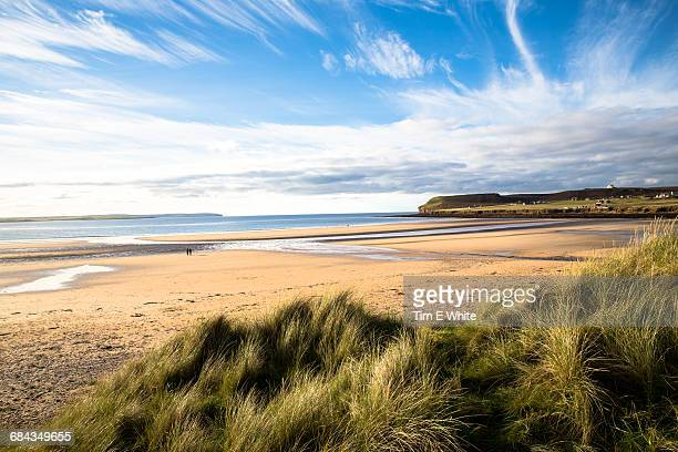 dunnet bay, northern scotland uk - bay of water stock pictures, royalty-free photos & images