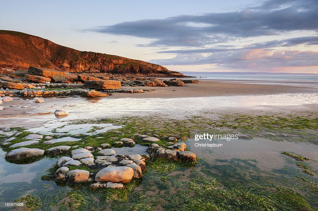 Dunraven Bay Sunset, Wales : Stock Photo