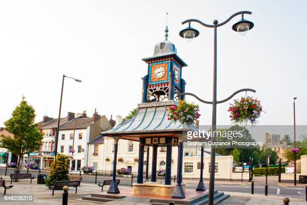 dunstable clock tower - bedfordshire stock photos and pictures
