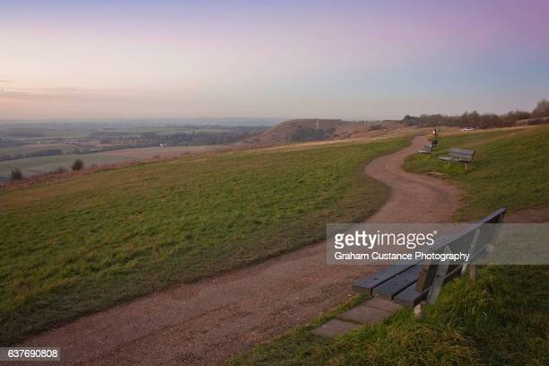 dunstable downs - bedfordshire stock photos and pictures