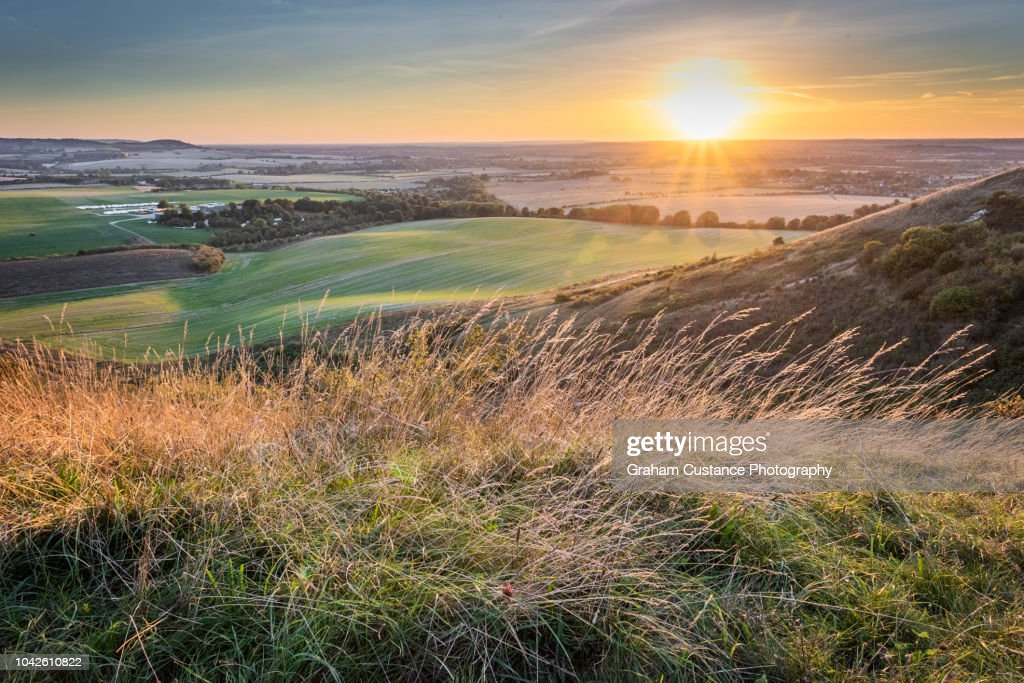 Dunstable Downs Sunset : Stock Photo