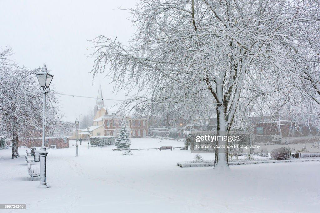Dunstable in Winter : Stock Photo