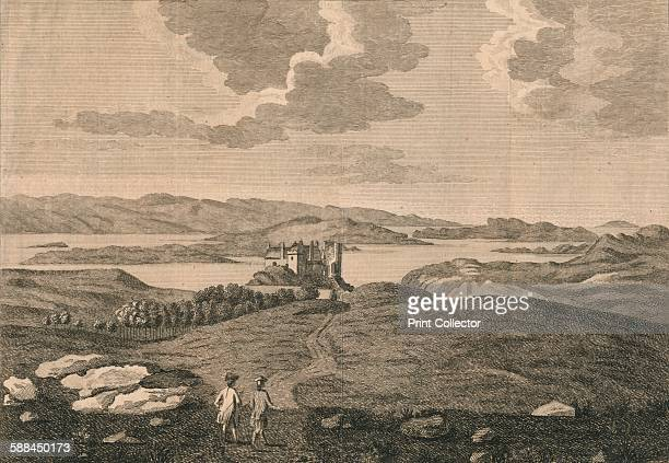Dunvegan Castle' 1774 After Moses Griffiths From A Tour in Scotland and Voyage to the Hebrides by Thomas Pennant Artist Peter Mazell