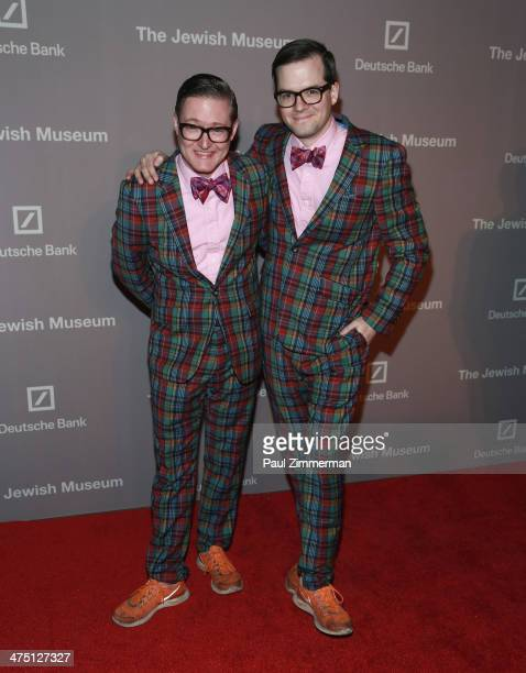 DJ duo AndrewAndrew attend the Jewish Museum's Purim Ball 2014 at Park Avenue Armory on February 26 2014 in New York City