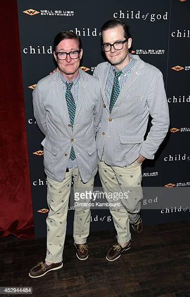 DJ duo AndrewAndrew attends the Child Of God premiere at Tribeca Grand Hotel on July 30 2014 in New York City
