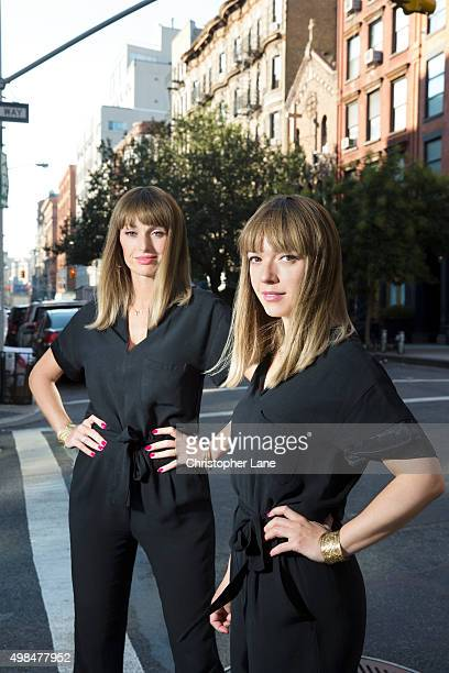 Duo Brigitte are photographed for Paris Match on September 18 2015 in New York City
