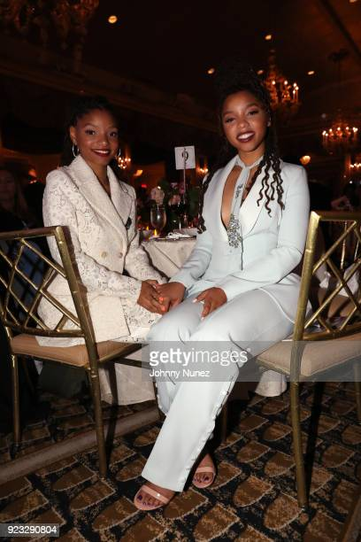 B duo Chloe X Halle attends the 2018 AFUWI Gala at The Pierre Hotel on February 22 2018 in New York City