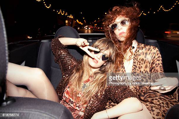 Duo Deap Vally is photographed for The Untitled Magazine on January 23, 2014 in New York City. CREDIT MUST READ: Indira Cesarine/The Untitled...