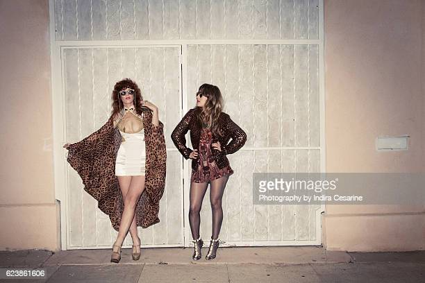Duo Deap Vally is photographed for The Untitled Magazine on January 23 2014 in New York City PUBLISHED IMAGE CREDIT MUST READ Indira Cesarine/The...