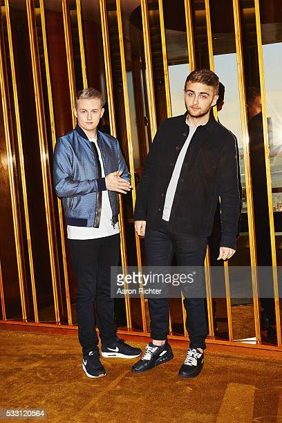 Duo Disclosure Guy Lawrence and Howard Lawrence are photographed on October 17 2015 at the Standard in New York City