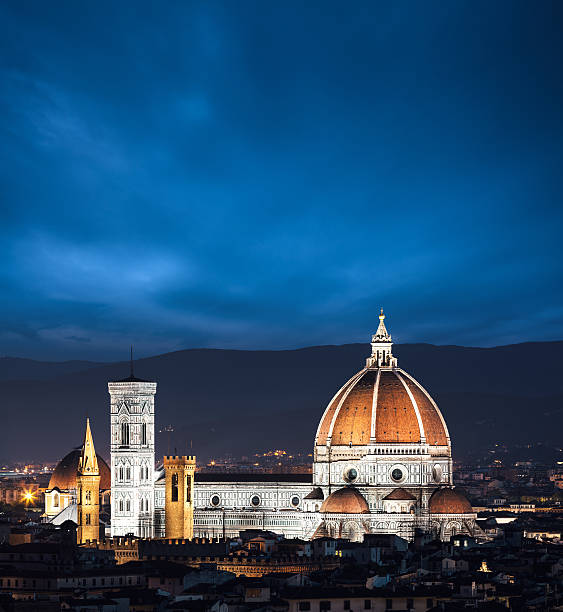 Duomo In Florence At Night Wall Art