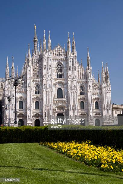 duomo of milan, cathedral - lombardia, italy - milan cathedral stock pictures, royalty-free photos & images