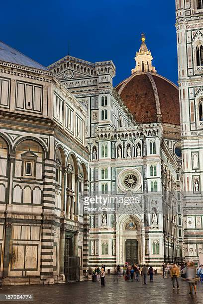 duomo of santa maria & baptistery, florence - renaissance stock pictures, royalty-free photos & images