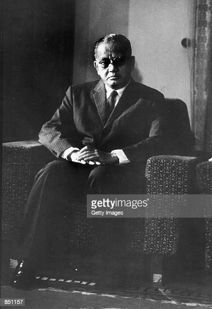 Duong Van Minh also known as Big Minh sits in his chair April 1975 Big Minh became President of South Vietnam after the fall of Saigon to the North