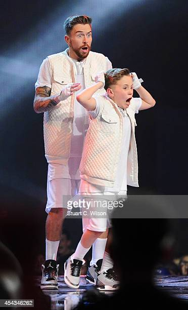 """Duplic8' are announced as overall winners during the live final of 2014's """"Got To Dance"""" at Earls Court on August 29, 2014 in London, England."""