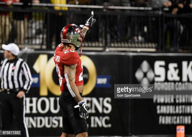 DUPLICATEWestern Kentucky Hilltoppers defensive back DeVon Wharton gestures a thumbs up during the first half on November 17 2017 at Houchens...