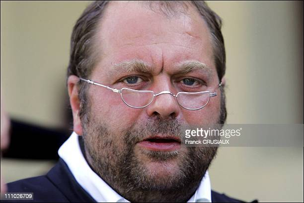 Dupond Moretti a lawyer Ortolano Bruno Graziella Ortlano brother companion Xavier Flactif on First day of the trial of David Hotyat and four other...
