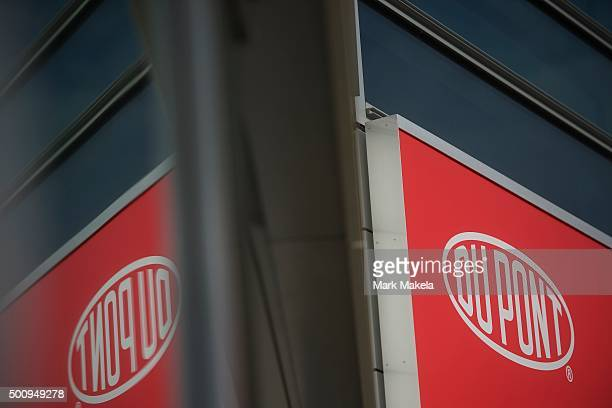 Dupont corporate headquarters is seen on December 11, 2015 in Wilmington, Delaware. The two largest chemical manufacturing U.S. Companies, Dupont and...
