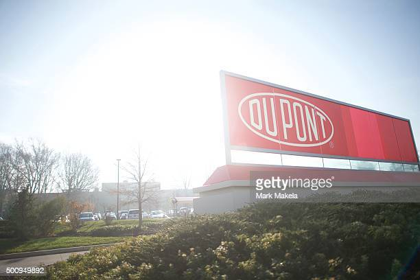 Dupont corporate headquarters is seen on December 11 2015 in Wilmington Delaware The two largest chemical manufacturing US companies Dupont and Dow...