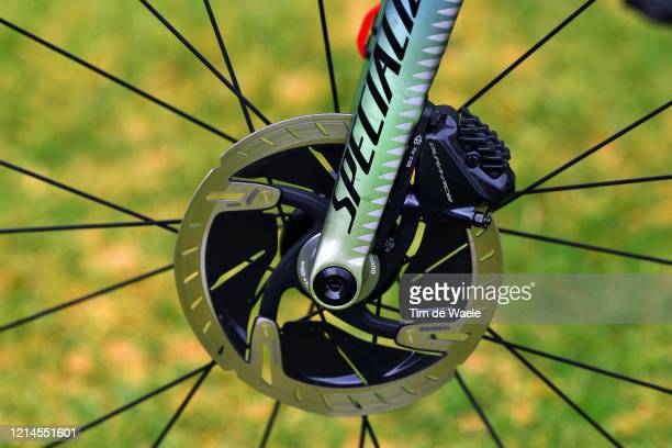 DuraAce Disk Brake / Chainstays / Sam Bennett of Ireland and Team Deceuninck QuickStep / Specialized Bike / Detail view / during the 22nd Santos Tour...