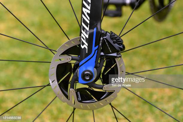 Dura-Ace Disk Brake / Chainstays / Sam Bennett of Ireland and Team Deceuninck - Quick-Step / Specialized Bike / Detail view / during the 22nd Santos...