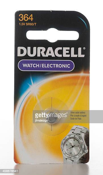 duracell 364 watch electronic silver oxide battery - duracell stock pictures, royalty-free photos & images
