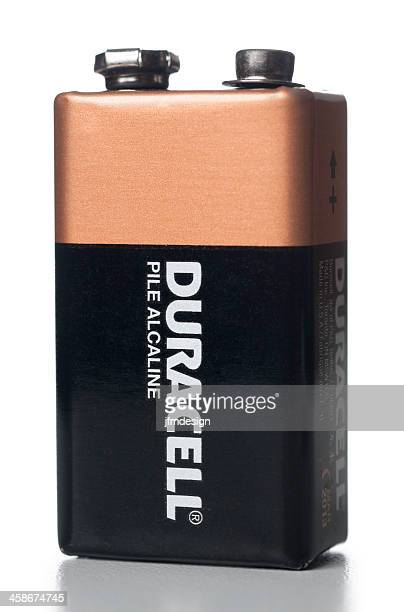 duracell 9 volt alkaline battery - duracell stock pictures, royalty-free photos & images