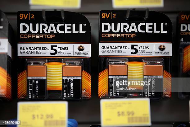 Duracell batteries are displayed on a shelf at a Batteries Plus store on November 13, 2014 in San Rafael, California. Berkshire Hathaway Inc....