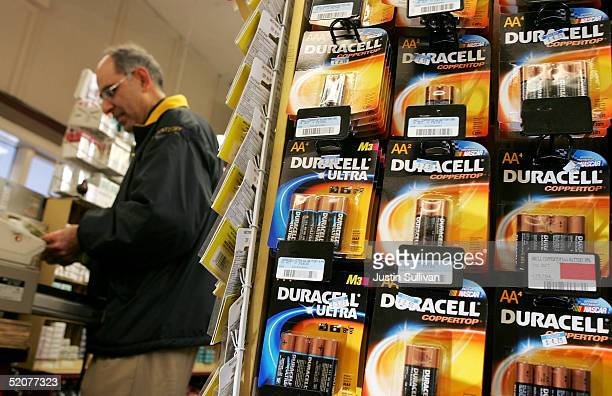 Duracell batteries, Made by the Gillette Co., are seen on display at the Arguello Supermarket January 28, 2005 in San Francisco. Procter & Gamble Co....