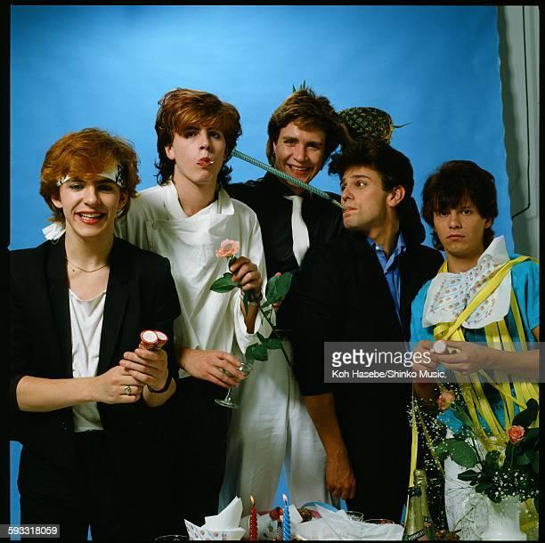 Duran Duran at Studio shooting, Tokyo, May 2, 1982.