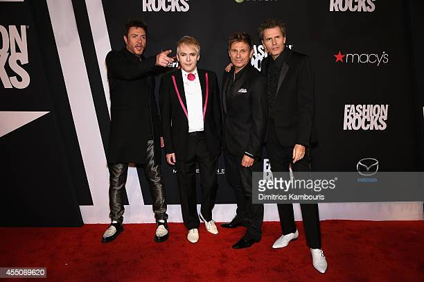 Duran Duran attends Fashion Rocks 2014 presented by Three Lions Entertainment at the Barclays Center of Brooklyn on September 9 2014 in New York City