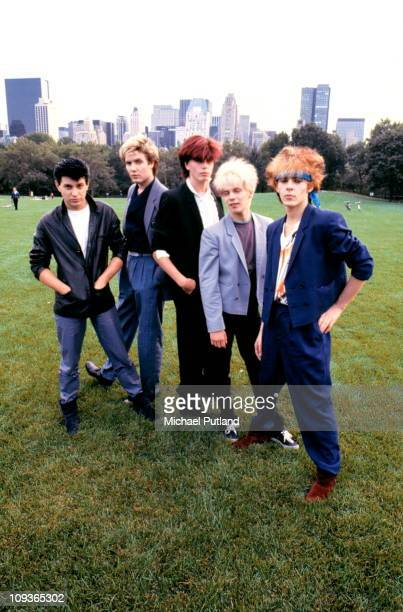 Duran Duran, group portrait, New York L-R Roger Taylor;Simon Le Bon;John Taylor;Andy Taylor;Nick Rhodes.