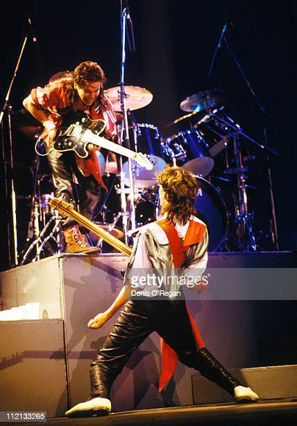 Duran Duran guitarists Andy Taylor and John Taylor live 1984