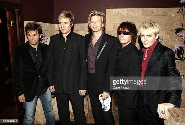 Duran Duran members Roger Taylor Simon le Bon John Taylor Andy Taylor and Nick Rhodes attend the launch of their new album Astronaut at Taman Gang...
