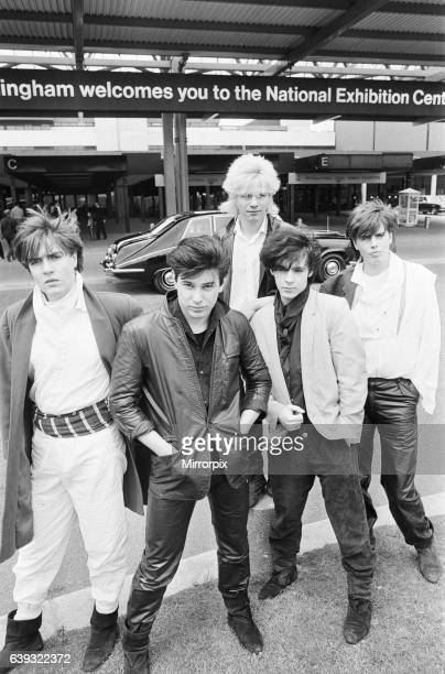 Duran Duran, music group, pictured outside the NEC, Birmingham, 7th May 1981. Evaluation Scan Only.
