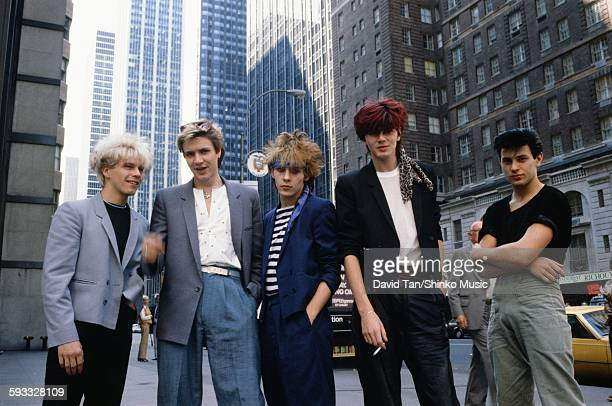 Duran Duran on a street corner in NYC NYC September 1981