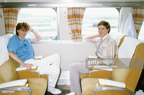 Duran Duran on the Shinkansen train Kyoto April 1982