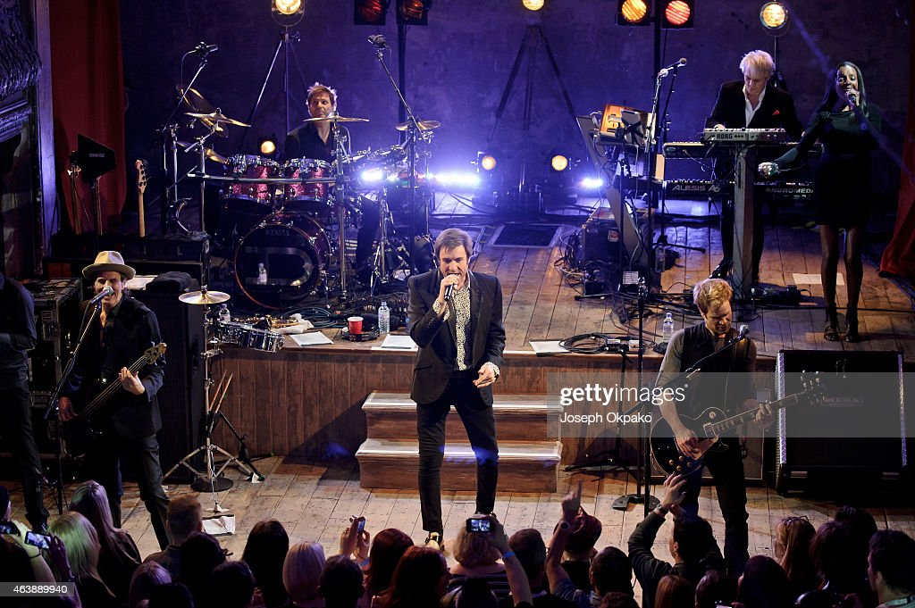 Duran Duran performs on stage for Warchild UK Passport 'Back To The Bars' at Wilton's Music Hall on February 19, 2015 in London, United Kingdom.