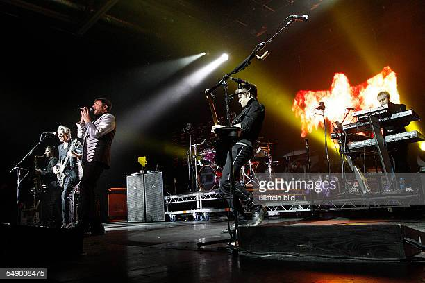 Duran Duran Pop Band GB performing in Berlin Germany overviews stage