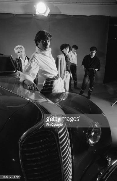 Duran Duran posed with a vintage car at the Paradise Garage nightclub in New York in April 1981 LR Andy Taylor Simon Le Bon Nick Rhodes John Taylor...