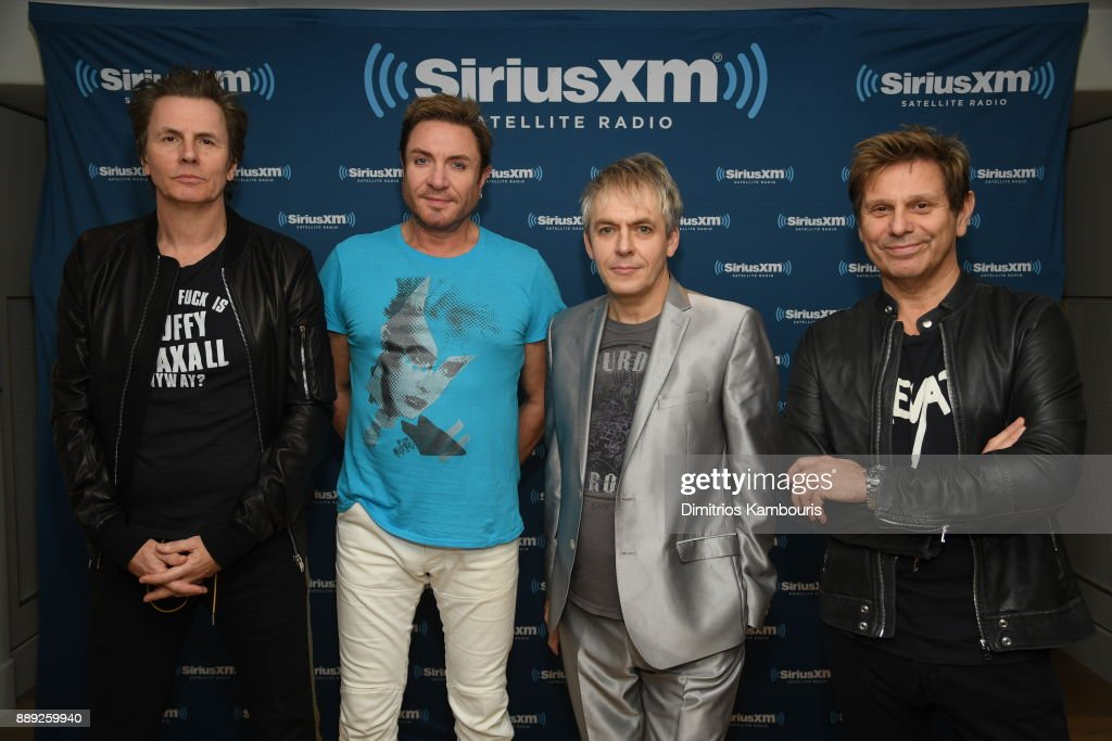 Duran Duran poses backstage for SiriusXM At The Faena Theater In Miami Beach During Art Basel on December 9, 2017 in Miami Beach, Florida.