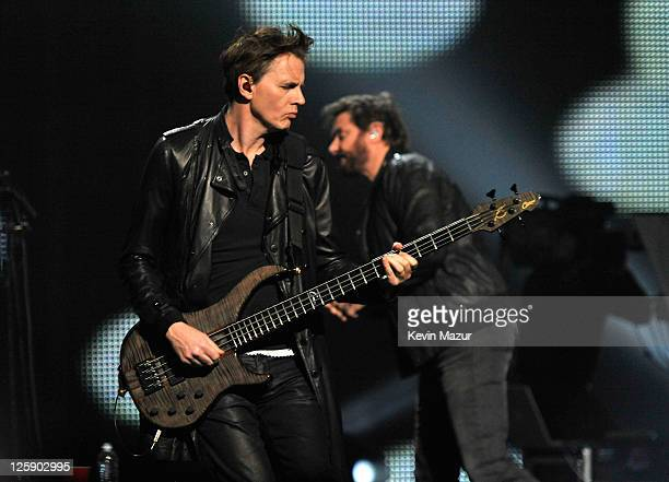 Duran Duran prefroms onstage during VH1's Pepsi Super Bowl Fan Jam at Verizon Theater on February 3 2011 in Grand Prairie Texas