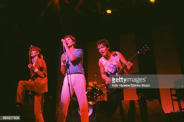 Duran Duran Simon Le Bon Andy Taylor and John Taylor live at Nippon Seinenkan Hall Tokyo April 25