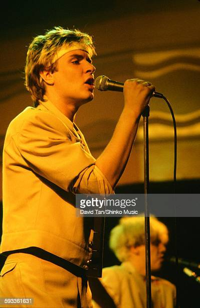 Duran Duran Simon Le Bon live in NYC NYC September 1981