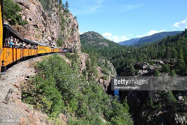 Durango & Silverton Railroad in the Animas River Gorge